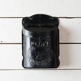 METAL BLACK POST BOX