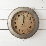 Grey Metal Wall Clock