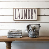 """Laundry"" Wooden Sign"