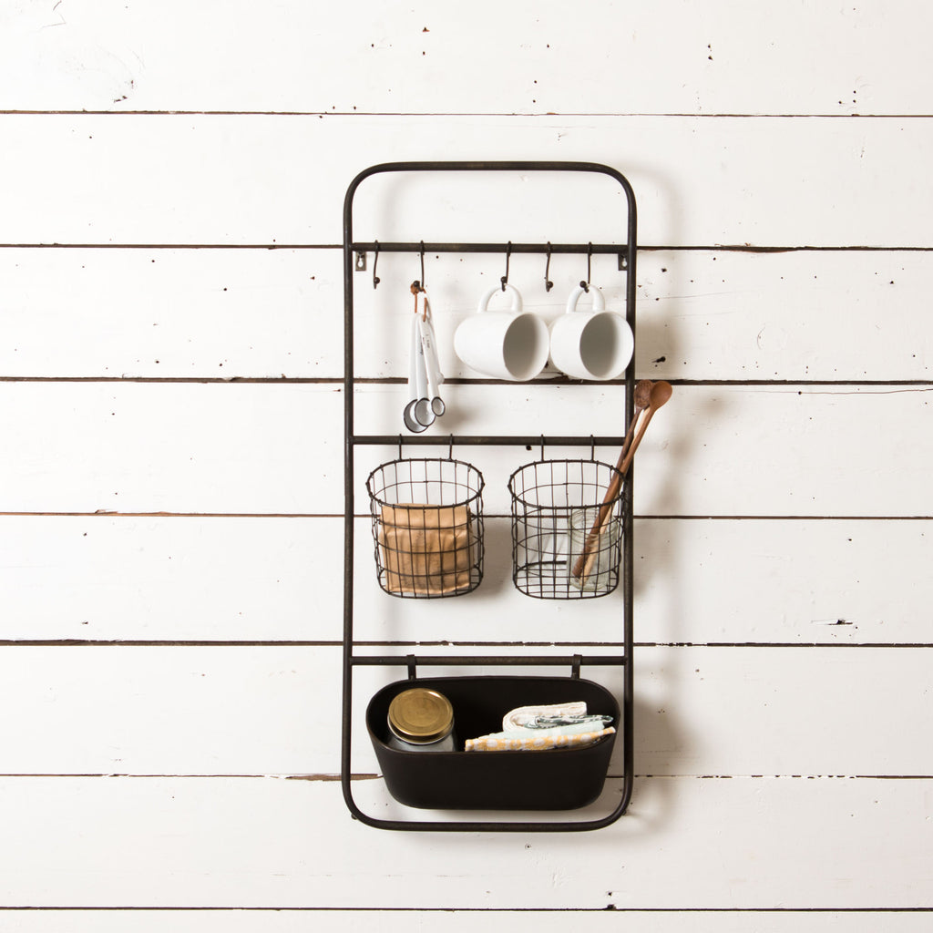 Black Wall Organizer