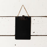 Hanging Black Clipboard
