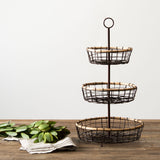 Wood & Wire Tiered Stand