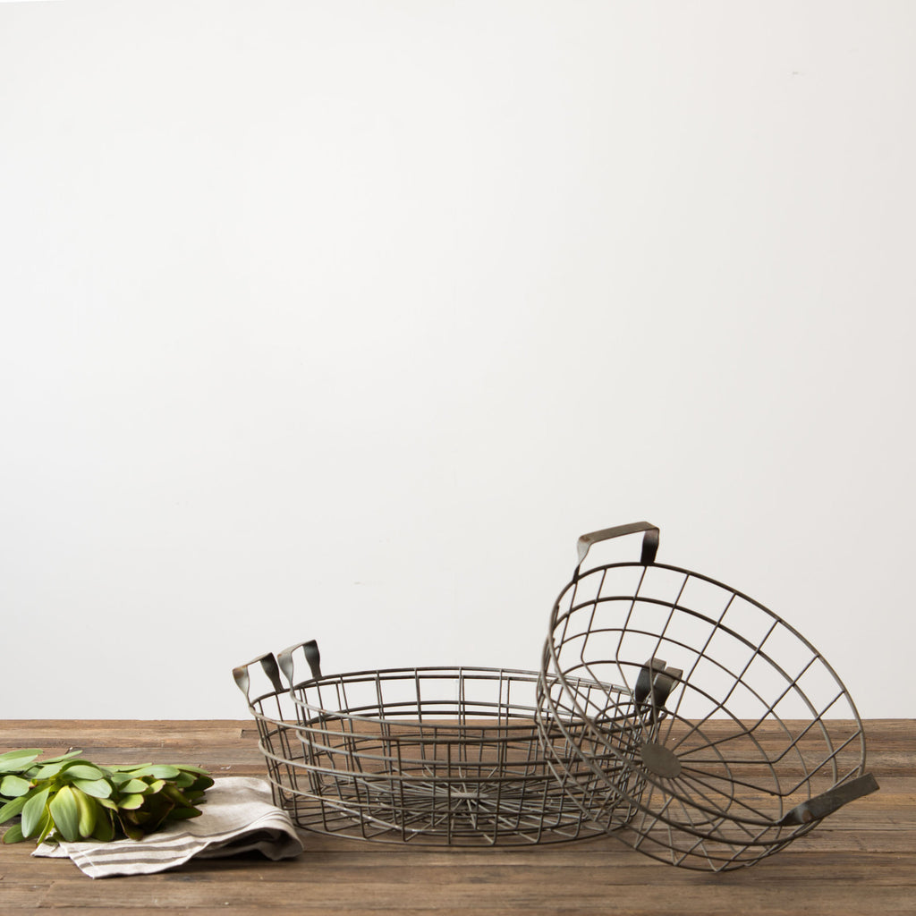 Round Shallow Wire Basket - Magnolia | Chip & Joanna Gaines