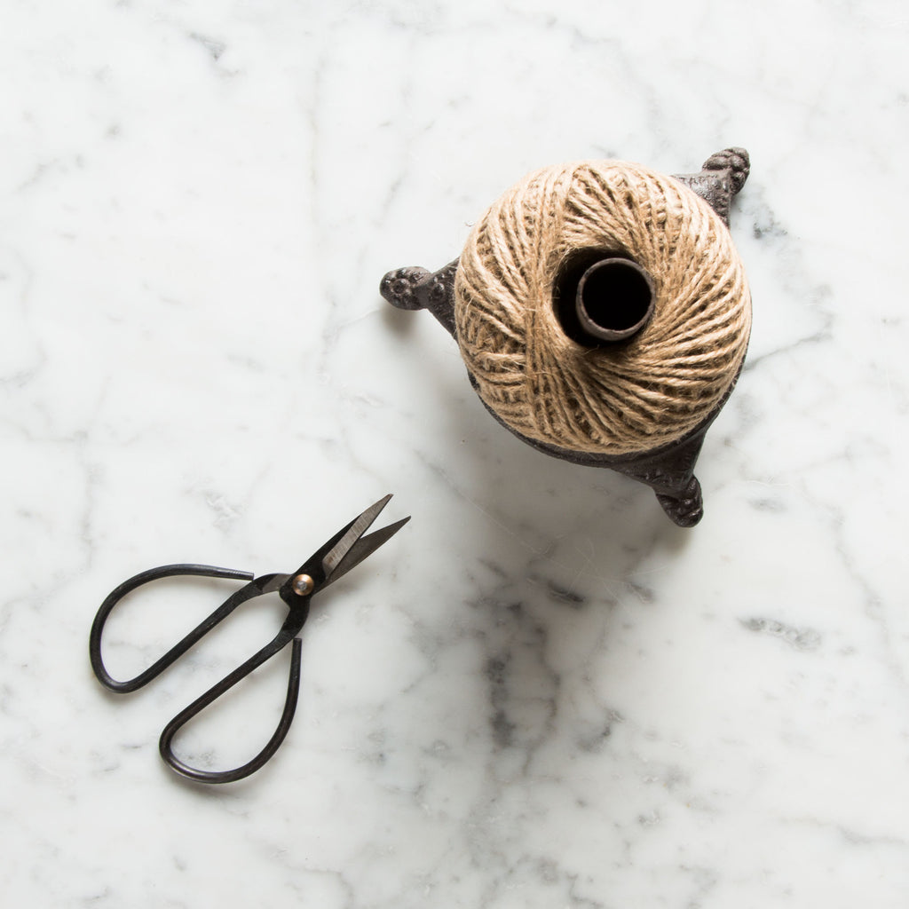 Ball of Twine Spool With Scissors