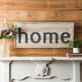 """Home"" Shiplap Sign"