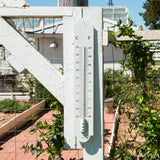 White metal vintage style thermometer