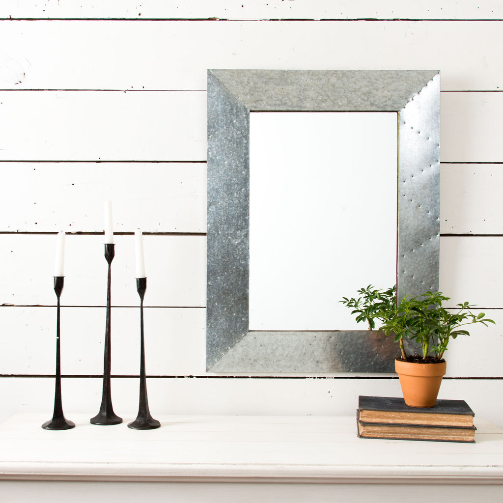 Galvanized Mirror