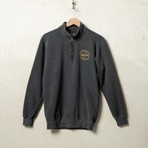 Magnolia Quarter Zip Pepper Sweatshirt