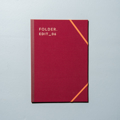 burgundy canvas folder with elastic band