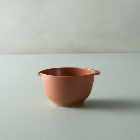 rosti terracotta colored melamine mixing bowl with spout