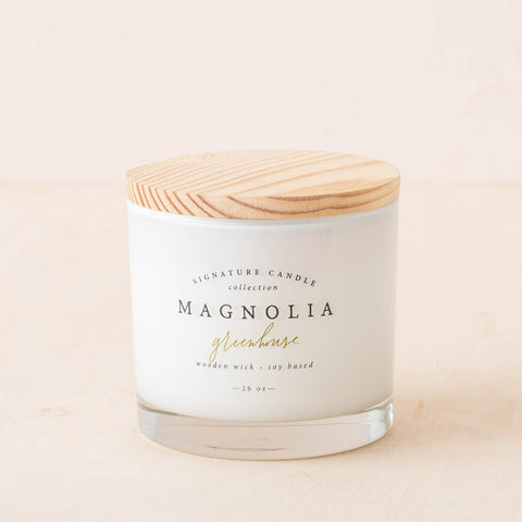 signature magnolia candle greenhouse scents