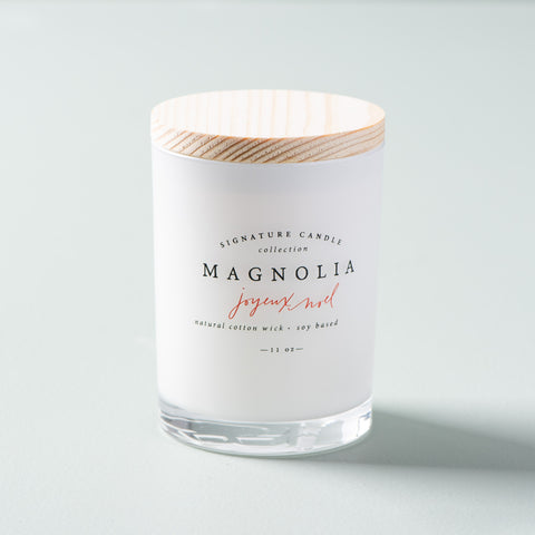 magnolia christmas candles with cotton wicks