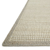 woven jute rug with light grey border