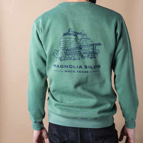 Silos Sketch Green Sweatshirt