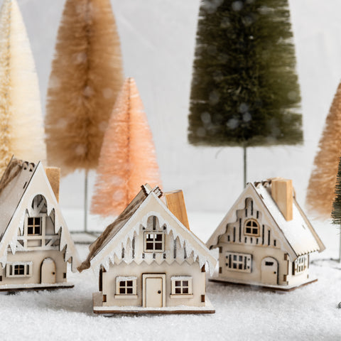 Snowy Birch Village Ornament