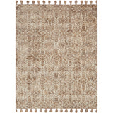 distressed modern bronze rug with ivory detail with bronze tassels