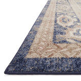 navy rug with light orange detail