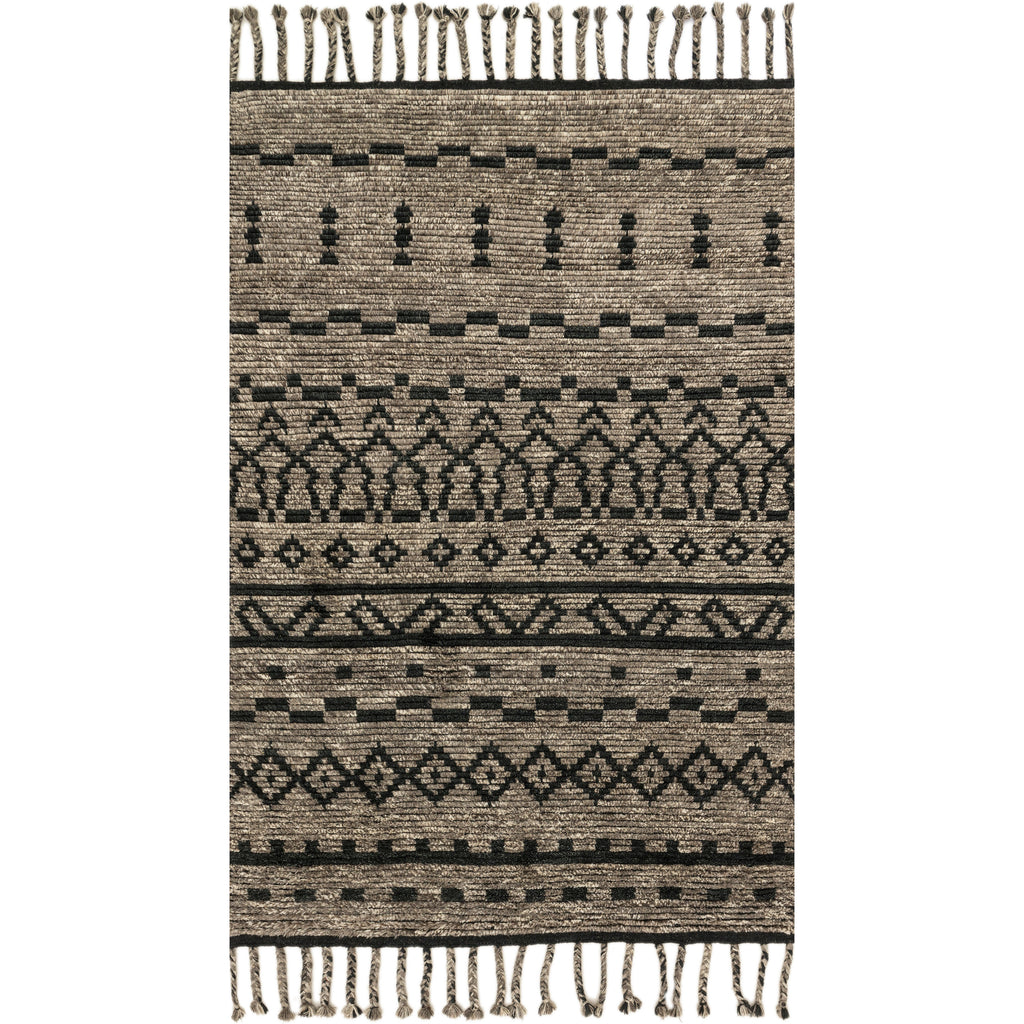 knots nordic rug products by rugs tiger area cream and black