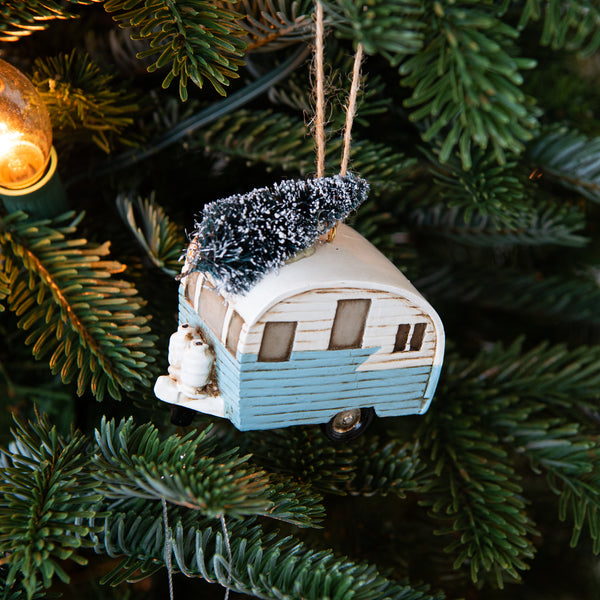Best Holiday Decor Stores Near Dallas Fort Worth: Vintage Holiday Trailer Ornament