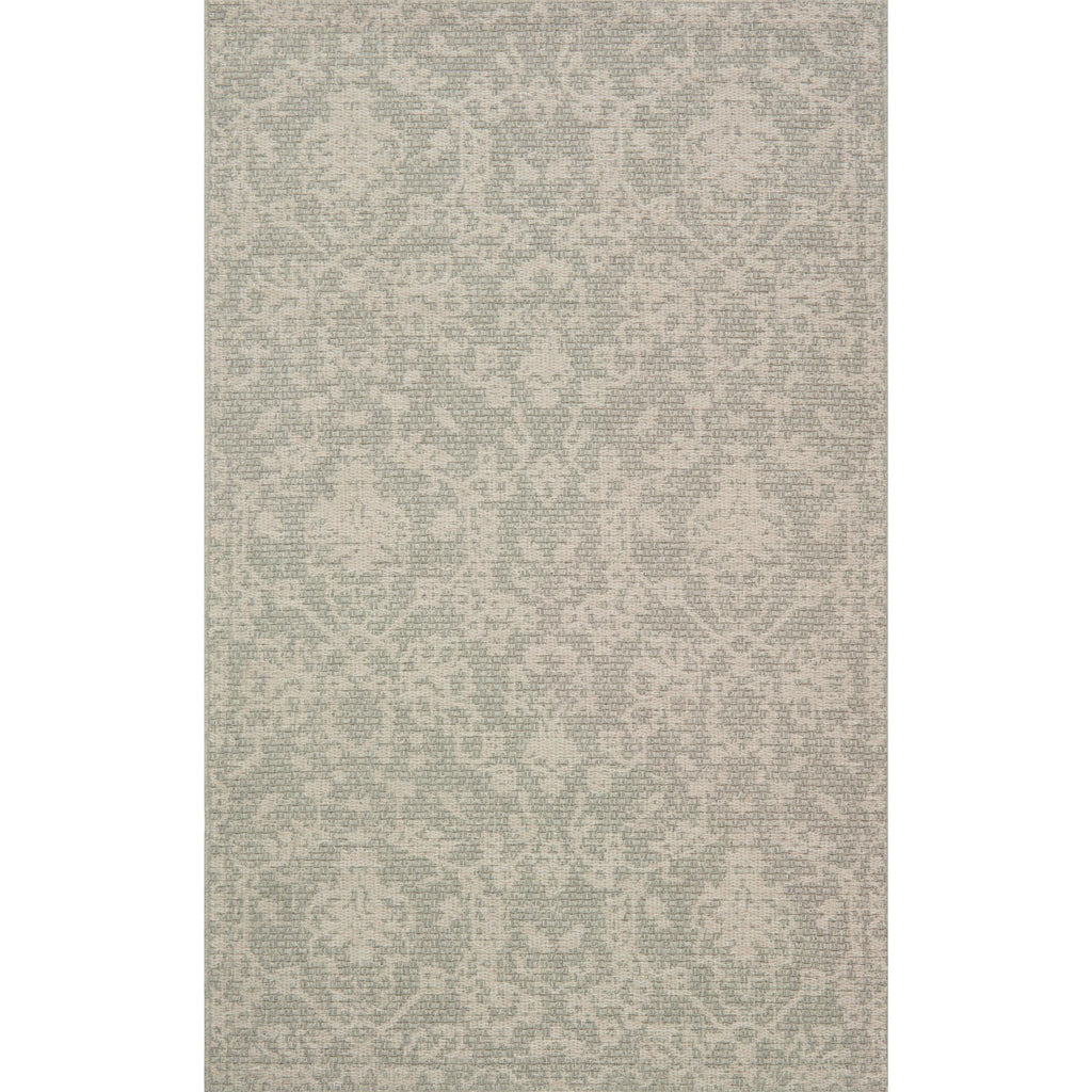 silver and grey traditional patterned rug