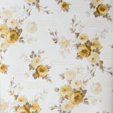 white wallpaper with yellow rose pattern