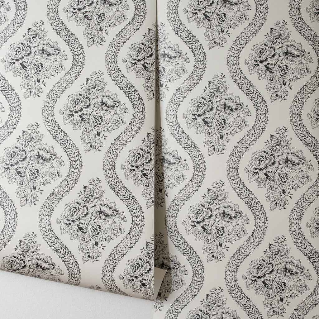 Coverlet Floral Wallpaper Magnolia Joanna Chip Gaines
