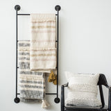 wide metal wall display ladder