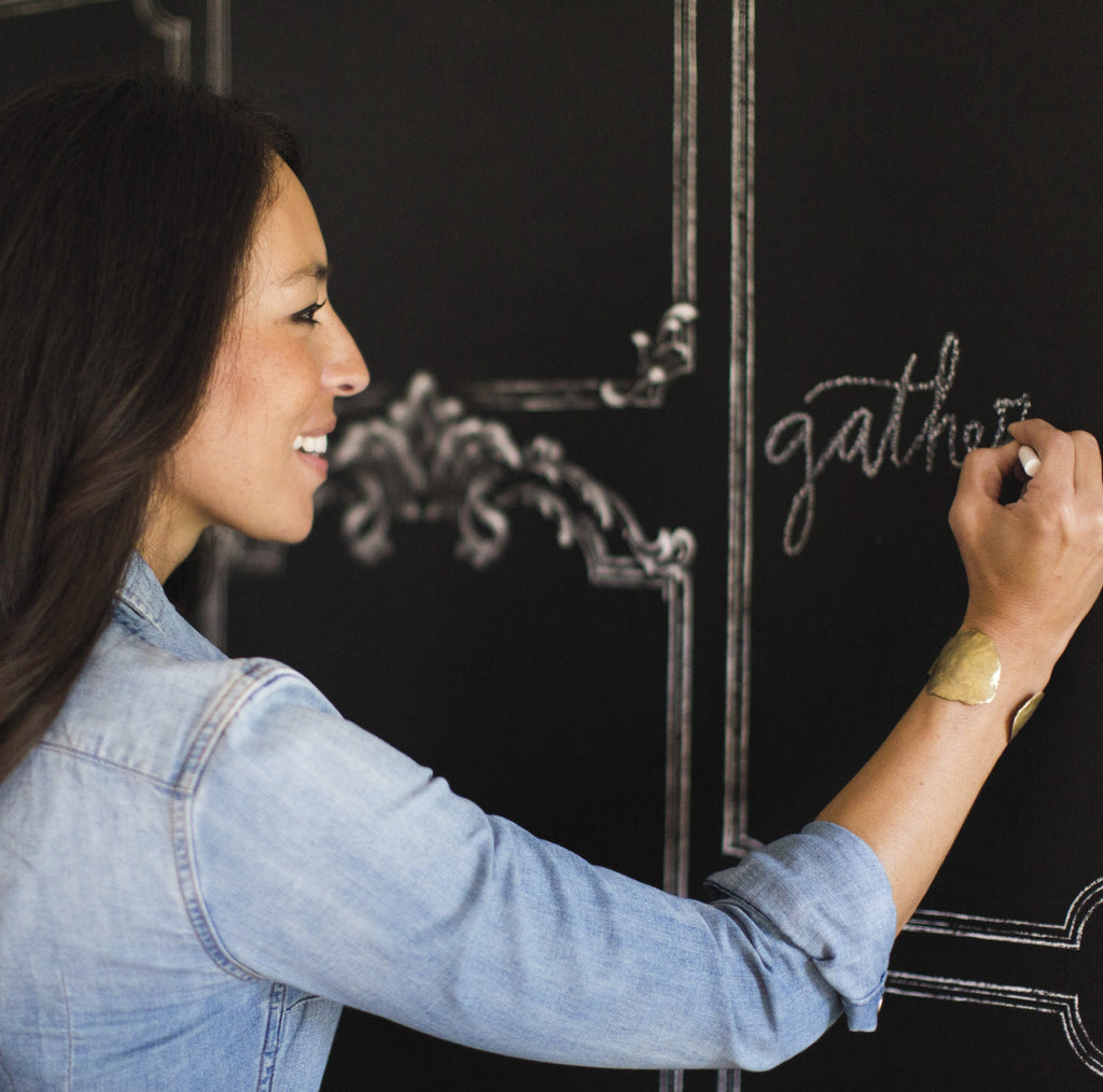framed chalkboard wallpaper