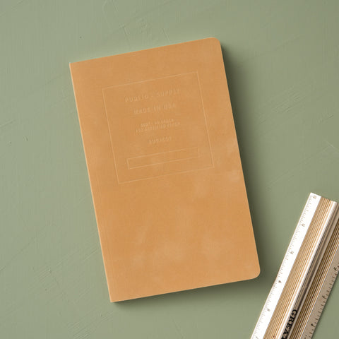 amber yellow velvet journal with lined pages