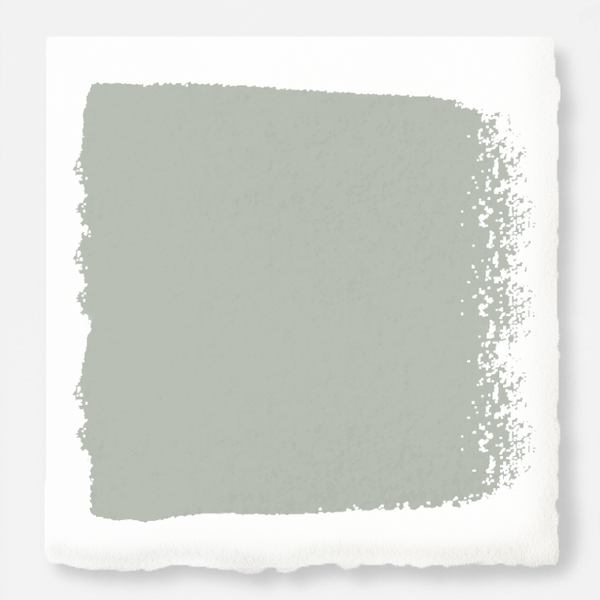 Cloudy gray with mint green and sky blue undertones paint