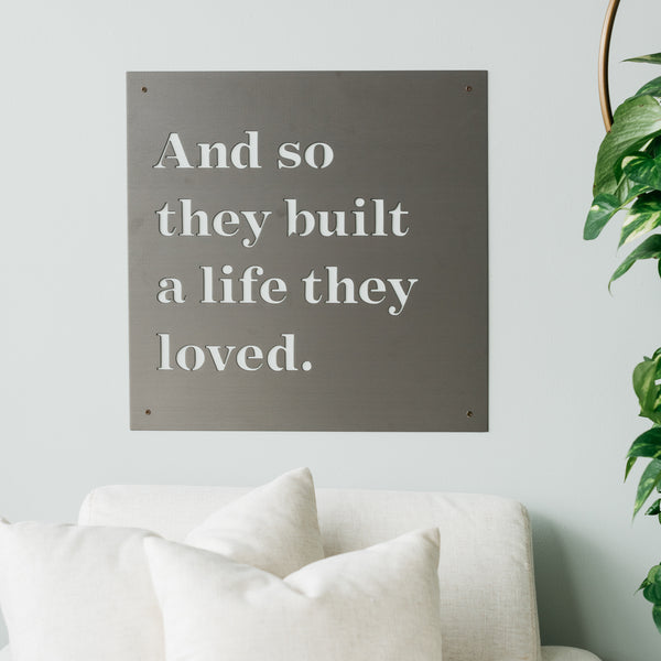 """Shop """"And So They Built"""" Sign from Magnolia Market on Openhaus"""