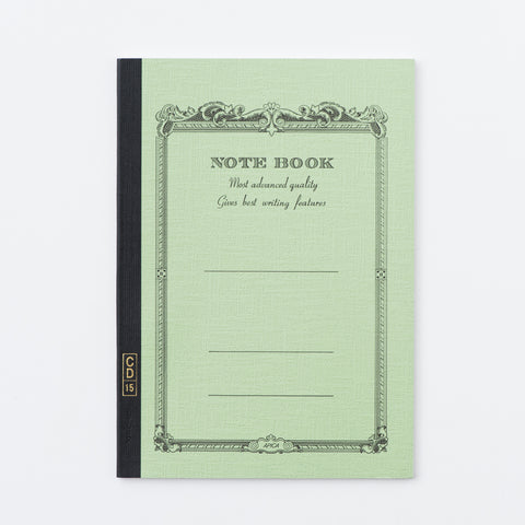 green colored notebook