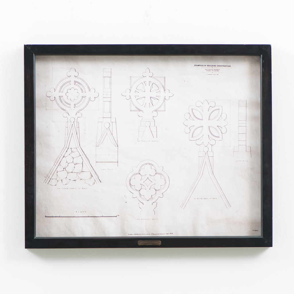 architectural print in frame