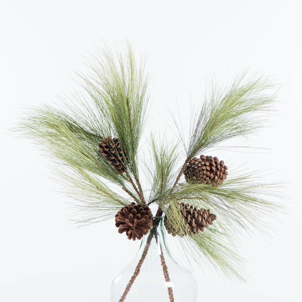 artificial pine stem with cones