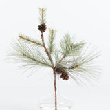 artificial pine pick with cones