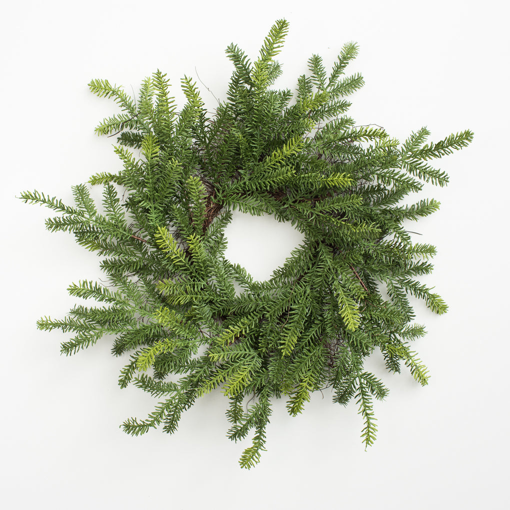 large artificial pine stem wreath
