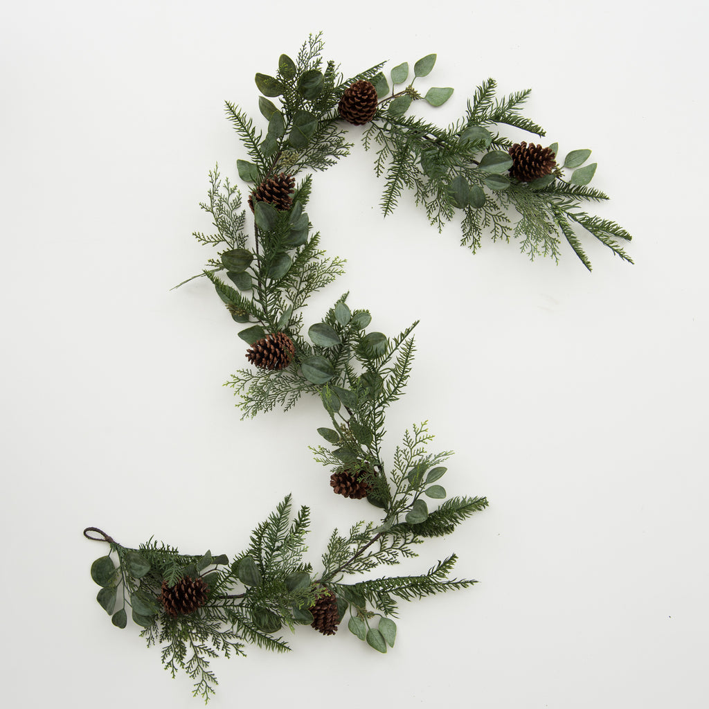 artificial winter greenery garland