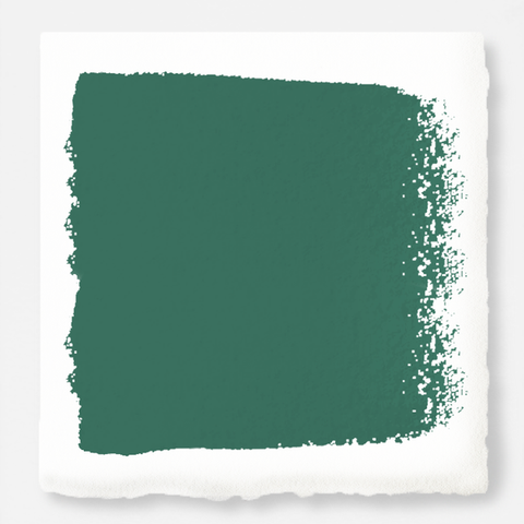 Crisp hunter green with golden accents exterior paint