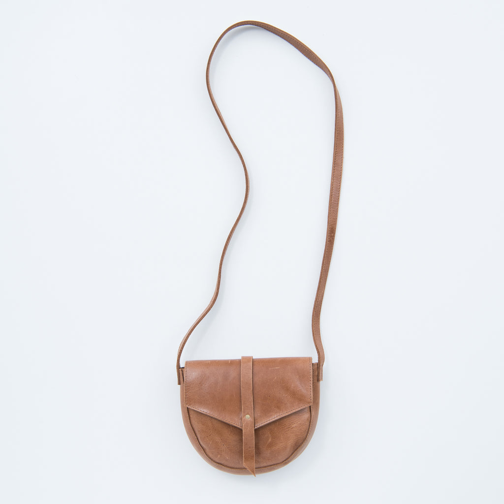 small brown leather crossbody purse