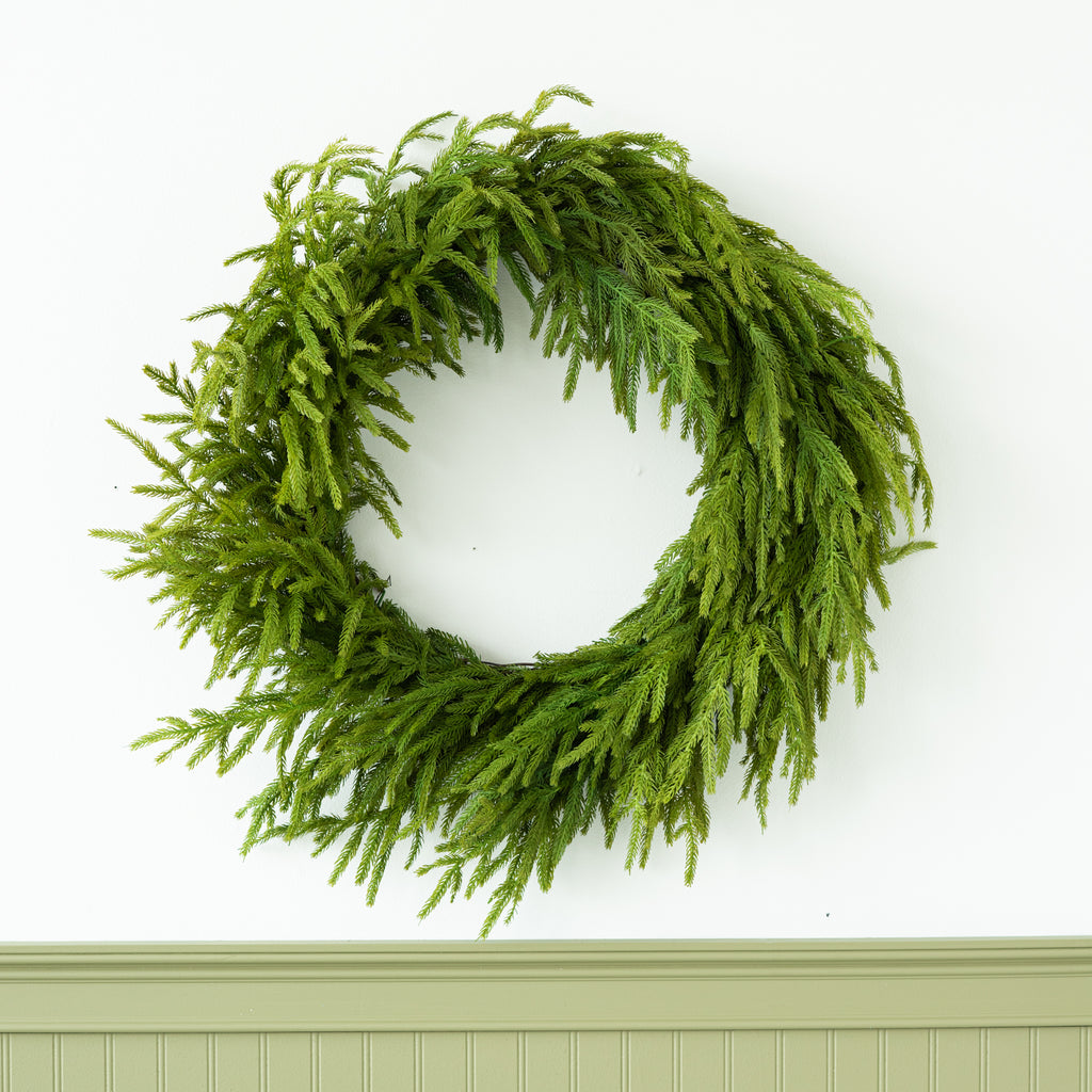 faux fir wreath