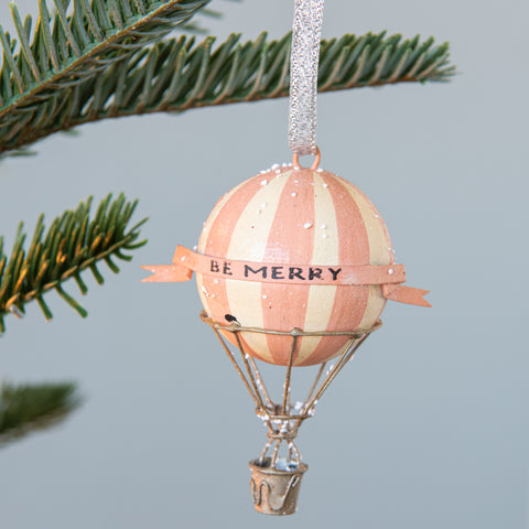 """Be Merry"" Balloon Ornament"