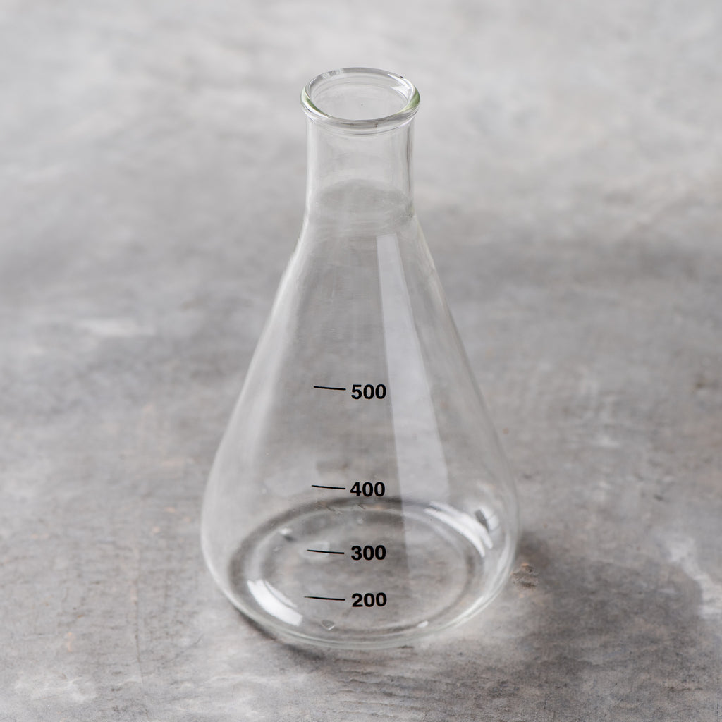 scientific glass bud vase