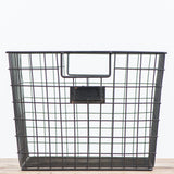 black metal wire basket