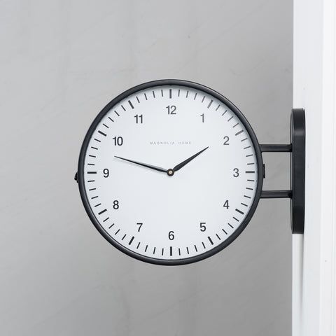 Metal Mod 2 Sided Wall Clock