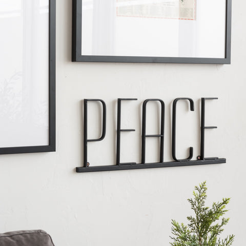 Peace Metal Sign