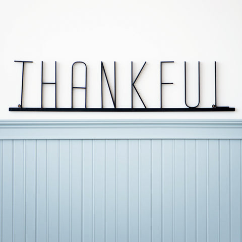 Metal Thankful Sign