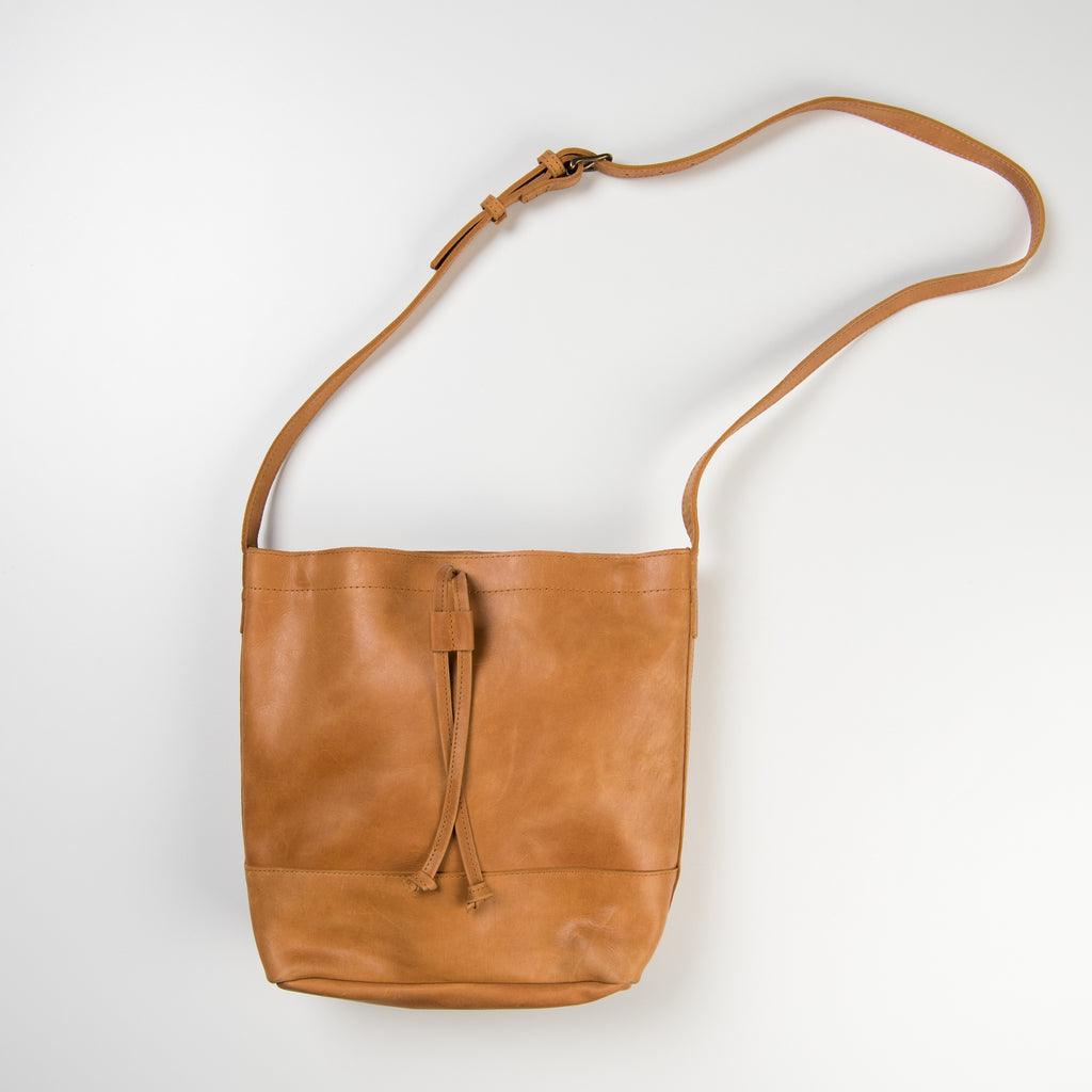 cognac leather bag with long shoulder strap