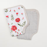 little unicorn poppy burp cloth
