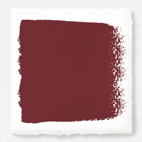 Deep antique red exterior paint