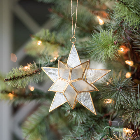 Capiz Star Ornament